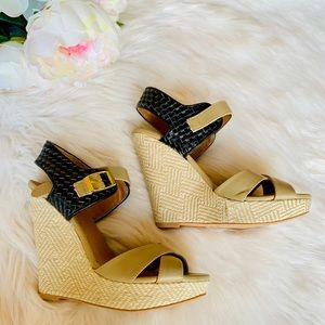 🌸Qupid Strappy Braided Sandal Wedge Heels🌸